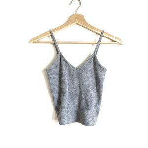 TOPSHOP | NWOT GREY CROPPED RIBBED TANK TOP